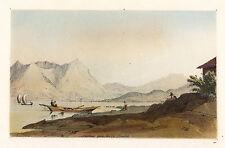 LAVENO Isola Madre Lago Maggiore - orig. Tonlithografie 1849 J. D. GLENNIE -