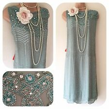 NWT Frock &  Frill Sequin Beaded Embellished 20's Gatsby Dress 20 Flapper Deco