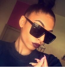Oversized Black Square Designer Style Fashion Sunglasses