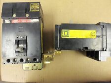 SQUARE D FH FH36020 3 POLE 20 AMP BREAKER BLACK FACE chipped grey handle
