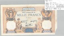 BILLET FRANCE - 1000 FRANCS - 20.10.1938 - Déchiré