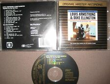 MFSL Gold CD Louis Armstrong Duke Ellington Jazz  Together For The First Time
