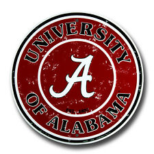 "UNIVERSITY OF ALABAMA 12"" ROUND METAL SIGN CRIMSON TIDE BAMA ROLL TIDE MAN CAVE"