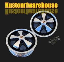 "911 Porsche Fuchs style VW Empi alloy wheels chromed & detailed 5x130 5.5""x15 Pr"