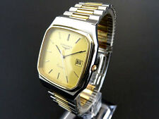 LONGINES 156/1644 Date Quartz Watch Stainless Steel & Gold Dial  [175]
