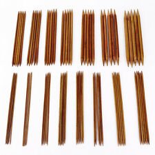 "75 PCS 20cm/8"" Bamboo Knitting Needles Carbonized (2mm-10mm) Double Pointed"