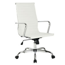 Modern PU Leather Ergonomic High Back Office Chair Executive Computer Desk New