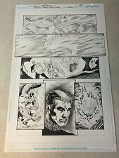 JUSTICE LEAGUE 80 PG GIANT original art HAWKMAN, DEMON JASON BLOOD, 2011