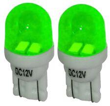 2x ampoule T10 W5W 12V 2LED SMD vert éclairage intérieur plaque coffre seuils