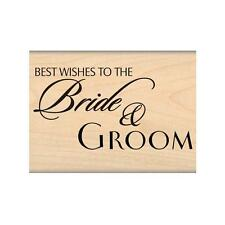MY SENTIMENTS EXACTLY RUBBER STAMPS BRIDE AND GROOM STAMP