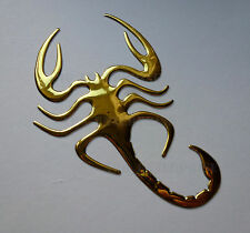 GOLD Chrome Effect Scorpion Badge Decal Sticker for Peugeot 208 308 3008 508 HDi