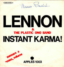 JOHN LENNON PLASTIC ONO BAND instant karma / who has seen 45RPM orig Italy APPLE