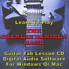 CHARLIE DANIELS BAND Guitar Tab Lesson CD Software - 6 Songs