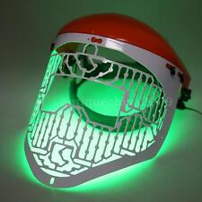 LED Light Therapy Face Mask Skin Photon Rejuvenation Acne Red Green Blue Y8L8