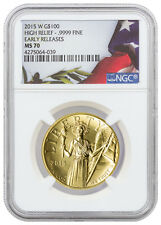 2015-W $100 American Liberty High Relief 1 Oz Gold Coin NGC MS70 ER SKU36647
