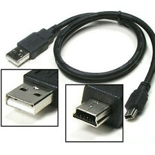 Best Black USB 2.0 A Male to Mini 5 Pin B Data Charging Cable Cord Adapter e78