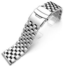 20mm Super Engineer Solid Stainless Steel Watch Band Push Button B