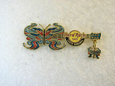 SANTO DOMINGO,Hard Rock Cafe pin,BUTTERFLY With Dangle