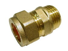 15mm Compression x 1/2 Inch BSP Male Iron Adaptor / Coupler | Brass Fitting