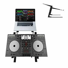 Pyle PLPTS38 Universal Dual Laptop Stand, Sound Equipment DJ Mixing Workstation
