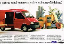 Publicité advertising 1988 (2 pages) Fourgon utilitaire Ford Transit