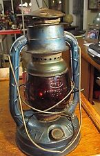 Vintage  DIETZ Little Wizard Kerosene  Barn Lantern Red Globe  Railroad Train NY