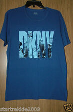 DKNY Men's Logo/Graphics S/S Tshirt, Blue Color, Size M, NWT. 100% Authentic