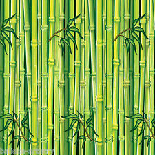Tropical Luau Party Scene Setter Room Roll Backdrop Decoration GREEN BAMBOO