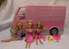 Barbie Hot Tub Party Bus Motor Home Camper RV 2006 Mattel with 3 Dolls