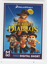 2013 SDCC COMIC CON EXCLUSIVE DREAMWORKS PUSS IN BOOTS THREE DIABLOS PROMO CARD