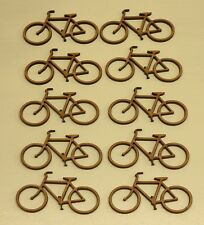 10 WOODEN BIKE SHAPES, CRAFT BLANKS, EMBELLISHMENT, HOBBY, MODEL 3mm MDF