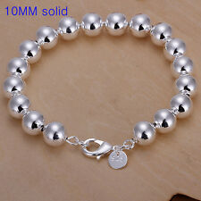 wholesale sterling solid silver fashion charms 10mm ball Bracelet XCSB136