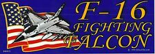 Air Force F-16 Fighting Falcon Airplane Jet BUMPER STICKER