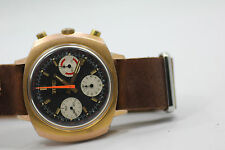 Elgin 60's Vintage Chronograph Valjoux 7736 Watch Black Dial 3 Colors Cal 330