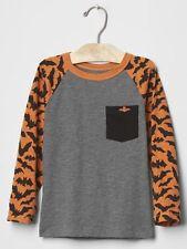 GAP Baby / Toddler Boys Size 12-18 Months Orange Bat Halloween T-Shirt Top Tee
