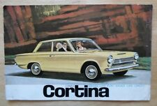 FORD Cortina Mk1 ORIG 1963 GRANDE FORMATO SALES BROCHURE + COLORI E FINITURE Australia