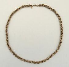 Vintage © MONET Tagged 2 Tone Gold & Silver Coloured Twisted Rope Necklace 20""