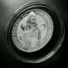 2016 UK Britain Queen's Beast The Lion 2 oz Silver Coin Ultra High Relief UNC