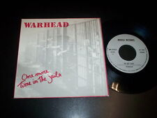 """Warhead – One More Time In The Jail 7"""" Not On Label Italy 1989"""