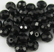 NEW Jewelry Faceted 100 pcs Black #5040 3x4mm Roundelle Crystal Beads DIY A12