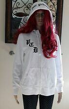 WOMENS VICTORIA'S SECRET PINK WHITE PUSSYCAT DOLLS DON'T CHA HOODIE Size Medium
