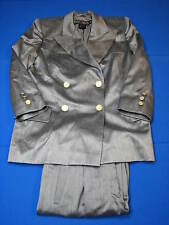 40 10 Escada Margaretha Ley Grey Ladies Blazer Jacket Gray Coat Womens Pant Suit