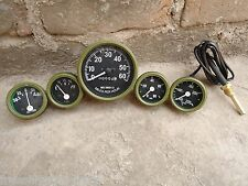 Willys MB Jeep Ford GPW Gauges Kit - Speedometer+Temp+Oil+Fuel+ Ampere (OLIVE)