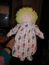Eden Baby Doll w Removable Nightgown Panties Pink Dogs on Flannel Material 13""