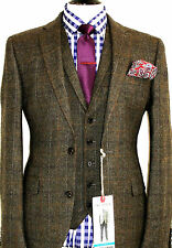 BNWT MENS NEXT LONDON HEAVY TWEED SHOOTING HUNTING 3 PIECE SUIT 40R W34 X L31
