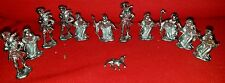 12 Old Miniature Religious Pocket Shrine Statues, Icon Figurines Lead