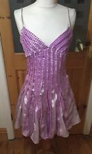 Ladies Size 10 Ballroom Dancing Style Lilac Light Purple Dress NWT