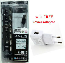 7 in 1 USB 2.0 Hi-Speed Hub - Individual On / Off buttons -7 Ports+POWER ADAPTOR