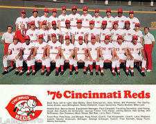 1976 CINCINNATI REDS THE BIG RED MACHINE BASEBALL TEAM 8x10 PHOTO