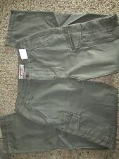 NEW ARIZONA SLIM STRAIGHT CARGO PANTS MENS 29X32 MILITARY GREEN  COLOR FREE SHIP